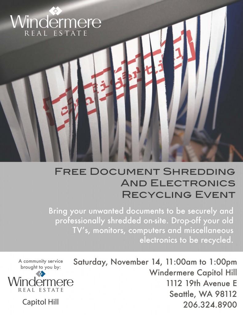 Windermere Shredding Poster Nov 2015